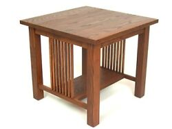Mission Arts And Crafts Stickley Style Square End Table