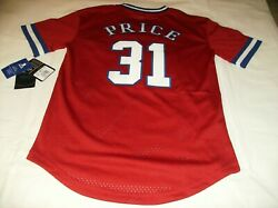 Rare Nwt Montreal Canadiens Stitched Carey Price Baseball Jersey Youth Lg 14/16