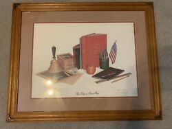 Large Robert Conley Print Beautifully Matted And Framed