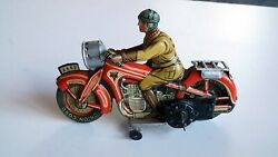 Arnold Tin Wind Up Motorcycle A-643 Germany 1940's Read  B985