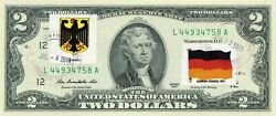 2 Dollars 2013 Stamp Cancel Postal Flag From Germany Value 150