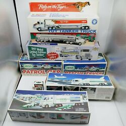 Hess Truck Lot W/ Mobile Exxon 1990s - 93and039 94and039 99and039 03and039 97and039 Car Truck Tanker 7