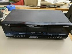 Pyle Pt649d Dual Stereo Cassette Deck Player System For Music And Audio Recording