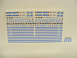 Nypd Nycd Correction Dept 164 Water Slide Decal Set Fits Gl Police Vehicles
