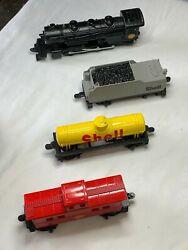 4 Piece Shell Oil Train Tender Tanker And Caboose Ho Scale