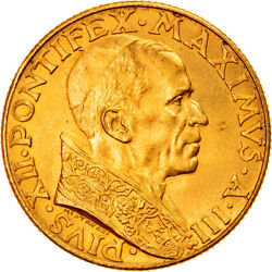 [906579] Coin Vatican City Pius Xii 100 Lire 1941 Rome Ms63 Gold