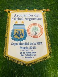 Argentina National Team Captain's Pennant World Cup Russi 2018 Vs Nigeria
