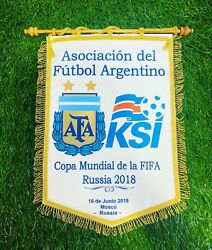 Argentina National Team Captain's Pennant World Cup Russi 2018 Vs Iceland