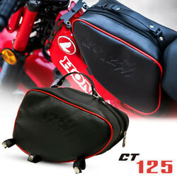 Red Black Center Luggage Bag Pouch Rack For Honda Ct125 Hunter Trail 2020-2021