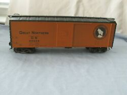 O Scale 2 Rail Great Northern Box Car 44424 Vintage Super Clean Condition