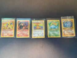 Pokemon 126 Card Lot 1st Edition And Base Set Cards Good Condition