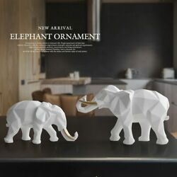 Elephant Figurine 2/set Resin For Home Office Hotel Decoration Tabletop Animal