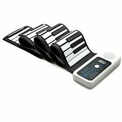 Lujex Standard 88 Keys Portable Roll Up Piano For Kids Adults White 88keys