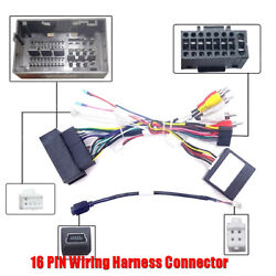 16pin Car Android Stereo Audio Wiring Harness W/canbus For Jeep Cherokee Compass