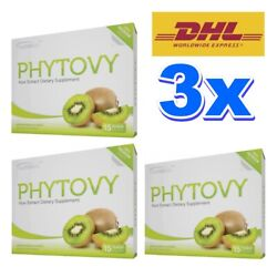 3x Phytovy Kiwi Extract Colon Detox Clean Weight Loss Dietary Supplement Slimmin
