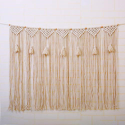 Laddawan Macrame Wall Hanging Wall Tapestry Large Bohemian Wall Decoration for