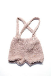 Olive Mini Girls Solid Fuzzy Suspender Shorts Pink Size 12 Months $32.99