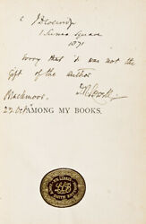 James Russell Lowell / Among My Books Six Essays Signed Inscribed By Author 1st