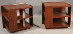Pair Rosewood Mid-century Modern Style End Tables