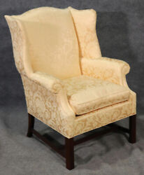Newport Style Solid Mahogany Wing Chair By Hickory Chair Company