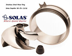 Solas Sea Doo Spark Impeller Sk-cd-13/18 And Stainless Wear Ring