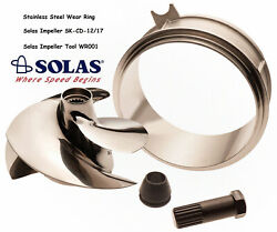 Solas Sea Doo Spark Impeller Sk-cd-12/17 W/ Stainless Wear Ring And Impeller Tool