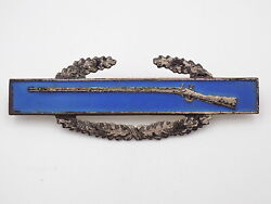 Wwii Us Army Cib Combat Infantry Badge Sterling - White Back