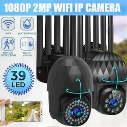 1080p Wifi Home Security Ip Camera Outdoor Wireless Ptz Night Vision Cctv Dome