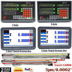 2/3axis Digital Readout Dro Display Ttl Linear Sensor Scale For Mill Edm Lathe