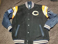 G Iii Nfl Mens Chicago Bears Leather Suede Football Sports Jacket Size 2xl Coat