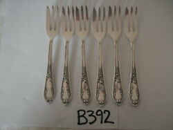 Rococo Vintage 100 Rs Silver Overlay Plated Pastry Cake Forks X 6