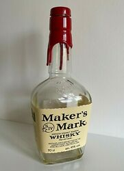 Collectable Makers Mark Glass Whisky Kentucky Bourbon Empty 70cl Bottle Makerand039s