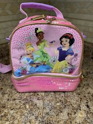 Disney Store Princess Lunch Box Tote School Insulated Bag Cinderella Tiana $21.99