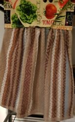 Hanging Kitchen Towels Tea/dish. Very Absorbent. Country Farmerand039s Garden. Soft..