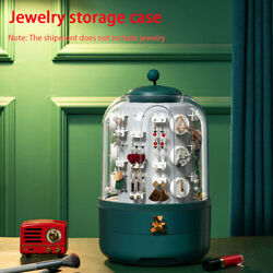 Earrings Necklace Multi Layer Drawer Design Jewelry Box Ring 360 Degree Rotating