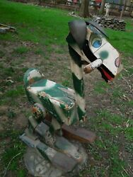 Antique Hobby Horse Donkey Wooden Walking Riding Primitive Arts And Crafts Toy