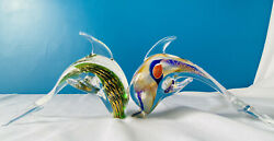Pair Of Murano Dolphins.