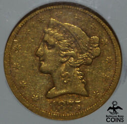 1875-s United States 5 Gold Liberty Head Half Eagle Ngc Vf35 100 Known