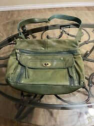 Green fossil leather purse $15.00