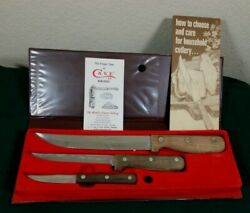 Case Xx Early American Household Knifes With Eagle Case And Original Paperwork