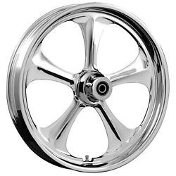 Fat Tire 21 X 5.5 Adrenaline Chrome Wheel Package - 2000-19 Harley Touring Flh