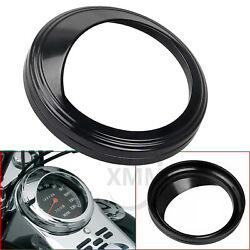 5 Blk Speedometer Trim Ring Cover For Harley Dyna Super Glide Fxd Fatboy 48 72