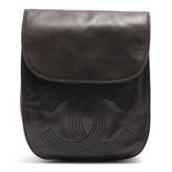 Coco Mark Lambskin Backpack Black 4s