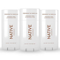 Native Deodorant - Natural Deodorant For Women And Men - 3 Pack Coconut And Vanill