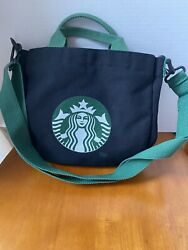 Starbucks Small Tote With Handles And Shoulder Strap Canvas Interior Pocket $15.00