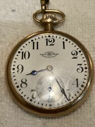 Ball Watch Co. Vintage Pocket Watch 23 J Lever Set Runs Great Used But Awesome