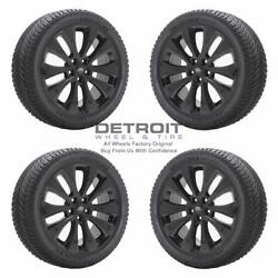 18 Ford Fusion Gloss Black Wheels Rims And Tires Oem Set 4 2019-2020 10206