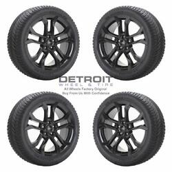 18 Ford Fusion Gloss Black Wheels Rims And Tires Oem Set 4 2017-2020 10120