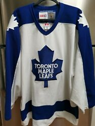 Authentic Vintage Toronto Maple Leafs Ccm Nhl Hockey Jersey Adult Size 48 Nwot