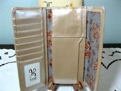 "NWT HOBO INTERNATIONAL ""SADIE"" TRIFOLD LEATHER WALLET COLOR: BLUSH $70.00"